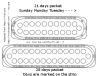 image of oral contraceptive pill 28 days and 21 days packet labeled with days of the week