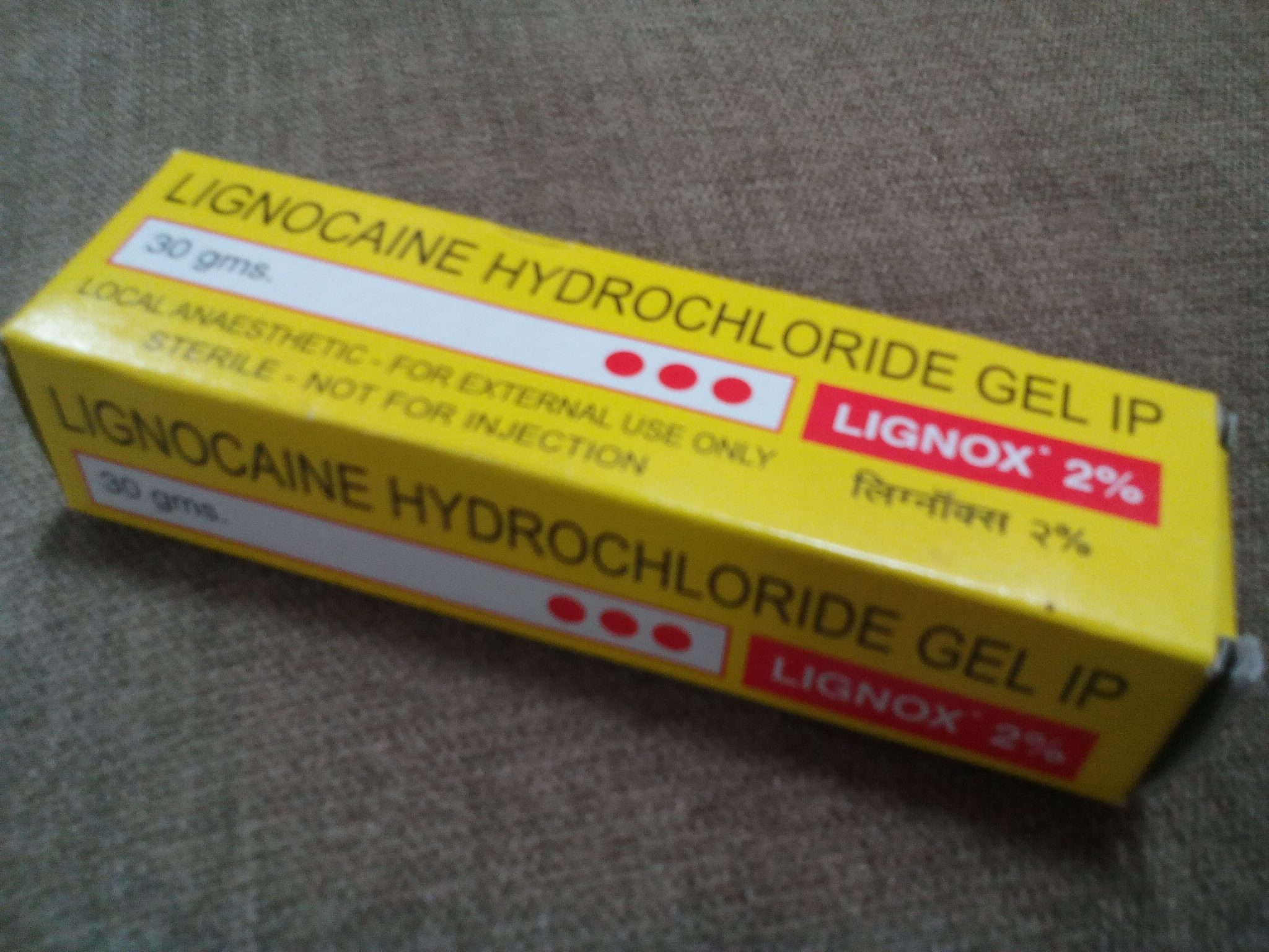 image lignox 2% gel Lignocaine is a substance that causes local anesthesia